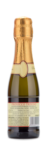 Le Contesse Prosecco Mini Bottle - Winery Back Label