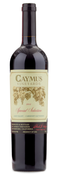 2012 Caymus Special Selection - Winery Front Label