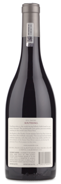 2014 Sea Smoke Southing Pinot Noir - Winery Back