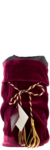 Burgundy Velvet Wine Bag