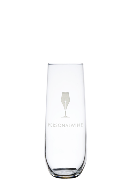 Custom-Etched Stemless Champagne Flute