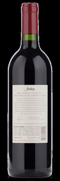 2012 Jordan Alexander Valley Cabernet Sauvignon - Winery Back label