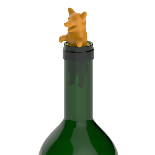 Corki Bottle Stopper - In Use