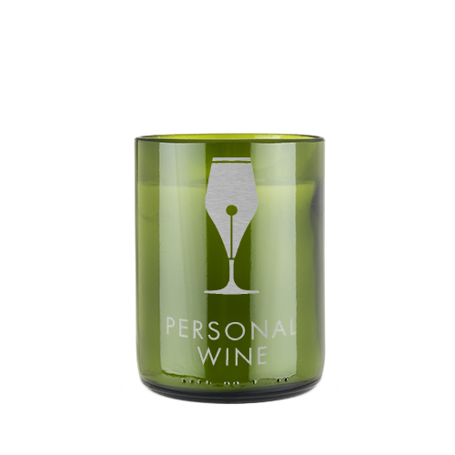 Upcycled Wine Bottle Candle - Engraved