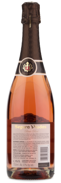 Segura Viudas Brut Rosé NV - Winery Back