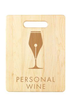 Custom Engraved Cutting Board - Maple wine gift