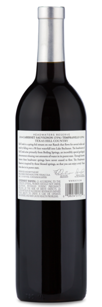 Fall Creek Headwaters Reserve Cabernet - Winery Back
