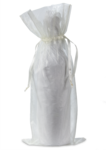 Organza Wine Bag - Ivory