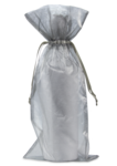 Organza Wine Bag - Silver