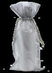 Organza Wine Bag - Silver