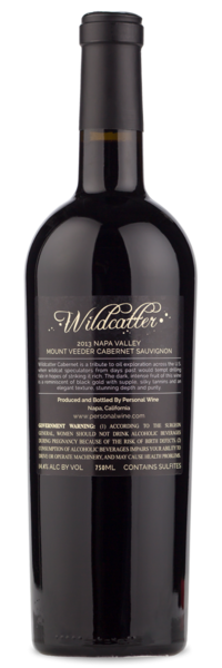 Wildcatter Mt. Veeder Cabernet 2013 - Winery Back