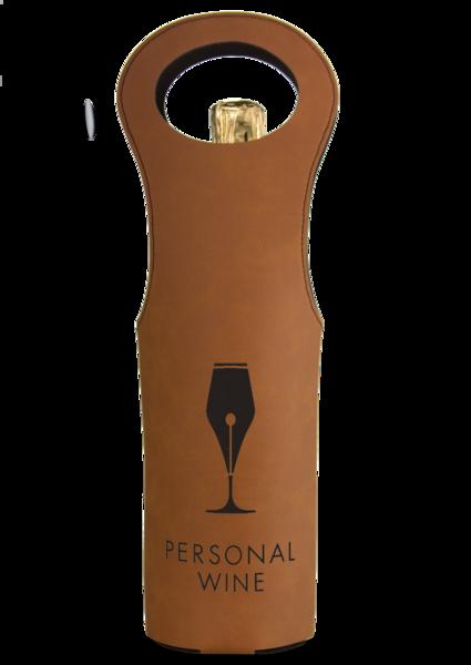 Leatherette Wine Bag - Rawhide
