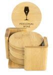 Bamboo 6-Coaster Set with Holder