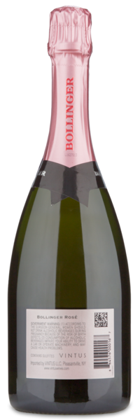Bollinger Rosé - Winery Back Label