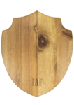 Acacia Wood Shield Cheese Board - Back