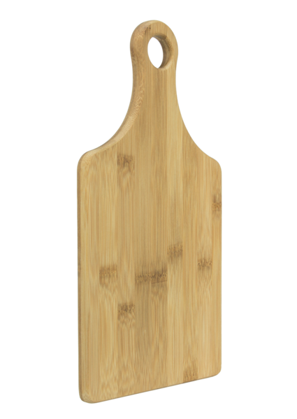 Cutting Board w/Handle - Bamboo Angled View
