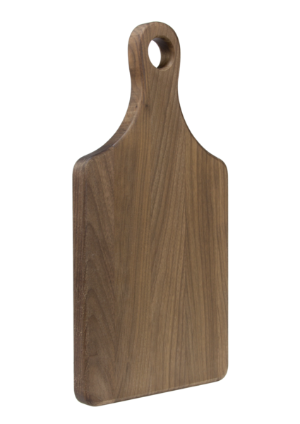 Cutting Board w/Handle - Walnut Angled View