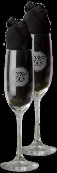 Kellerman's Champagne Flute Set - Engraved
