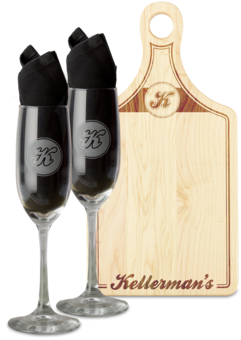 Kellermans champagneflute board iso front