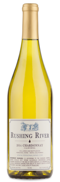 2016 Rushing River California Chardonnay - Winery Back Label