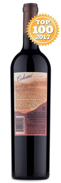 2015 Colomé Estate Malbec - Winery Back Label