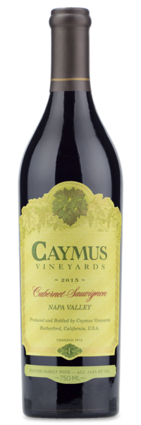 2015 Caymus Vineyards Napa Valley Cabernet Sauvignon - Winery Front Label