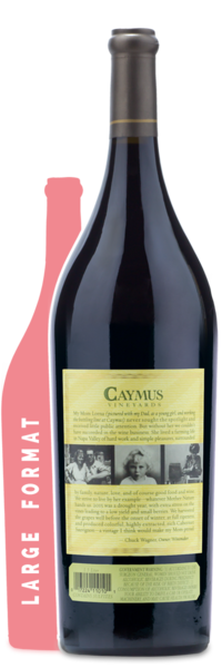 2015 Caymus Vineyards Napa Valley Cabernet Sauvignon | 1.5L - Winery Back Label