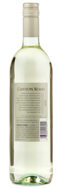 2015 Canyon Road Pinot Grigio - Winery Back Label