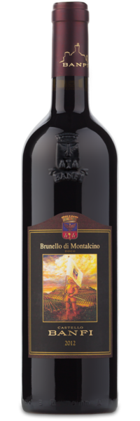 2012 Castello Banfi Brunello di Montalcino - Winery Front Label