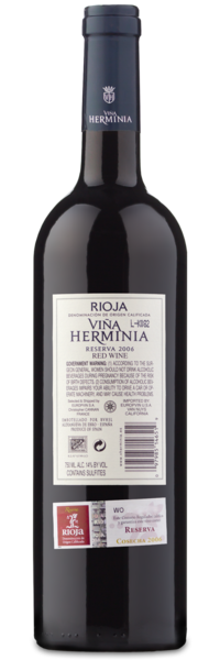 2006 Viña Herminia Rioja Reserva - Winery Back Label