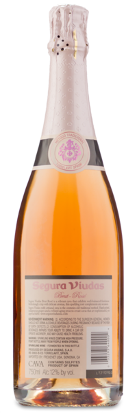 Segura Viudas Cava Brut Rosé - Winery Back Label