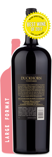 Duckhorn Vineyards  | Three Palms Merlot - Winery Back Label