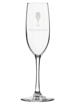 Glass champagne engraved