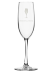 Custom-Etched Champagne Flute