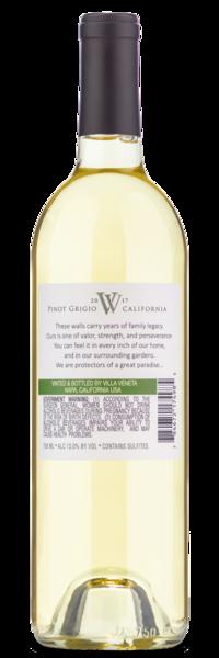 2017 Villa Veneta Pinot Grigio - Winery Back Label