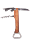 Rosewood Bottle Opener & Corkscrew - Open