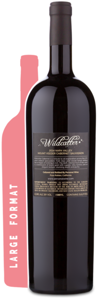 2014 Wildcatter Mt. Veeder Cabernet Magnum - Winery Back Label