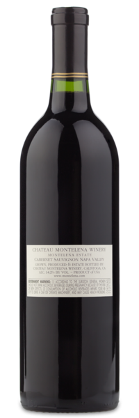 Château Montelena Cabernet - Winery Back Label