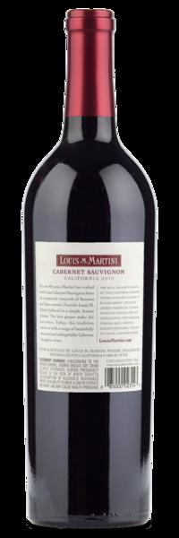 2015 Louis Martini Cabernet Sauvignon - Winery Back Label