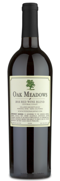 2016 Oak Meadows Central Coast Red Wine Blend - Winery Back Label