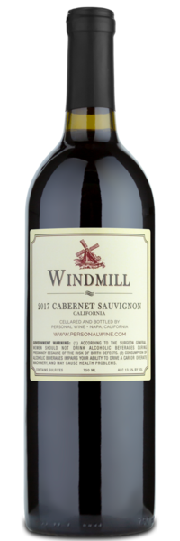 2017 Windmill Cabernet Sauvignon - Winery Back Label