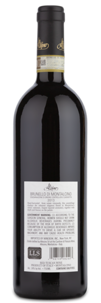 2013 Altesino Brunello di Montalcino - Winery Back Label