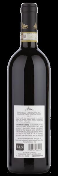 2013 Altesino Brunello di Montalcino - Winery Back Label