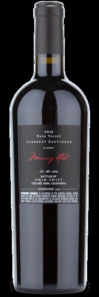 2015 Orin Swift Mercury Head Cabernet Sauvignon - Winery Back