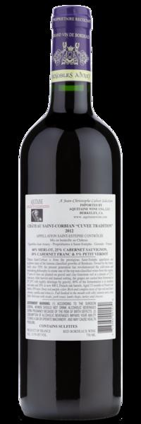 Back of Wine Label