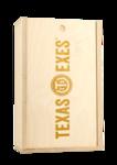 Texas Exes Custom Etched Double Bottle Box
