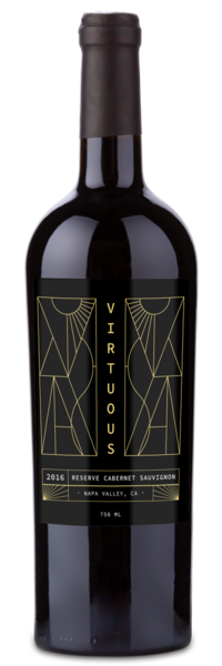 Virtuous Napa Cab Winery Front Label