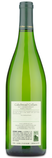 2017 Cakebread Cellars Napa Valley Chardonnay - Winery Back Label