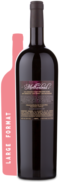 2016 Motherload Red Blend Magnum - Winery Back Label