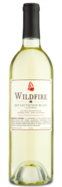 2017 Wildfire Sauvignon Blanc -  Winery Back Label